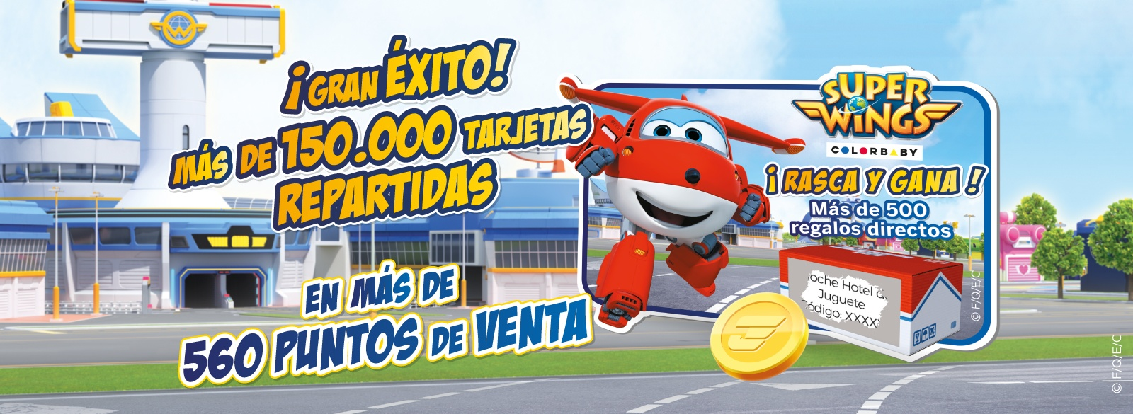 Super Wings Éxito Rasca y Gana