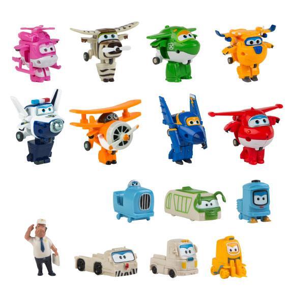 Pack 8+7 figuras Super Wings Super Wings