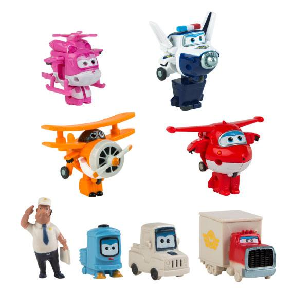 Pack 4+4 figuras Super Wings Super Wings
