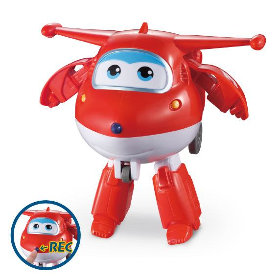 Jett Transformable Con Grabador De Voz Super Wings
