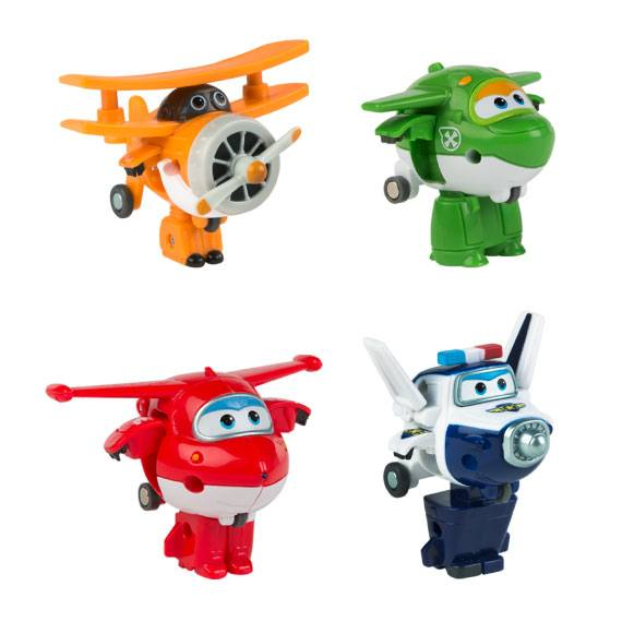 Pack1 Figuras mini Transformables Super Wings