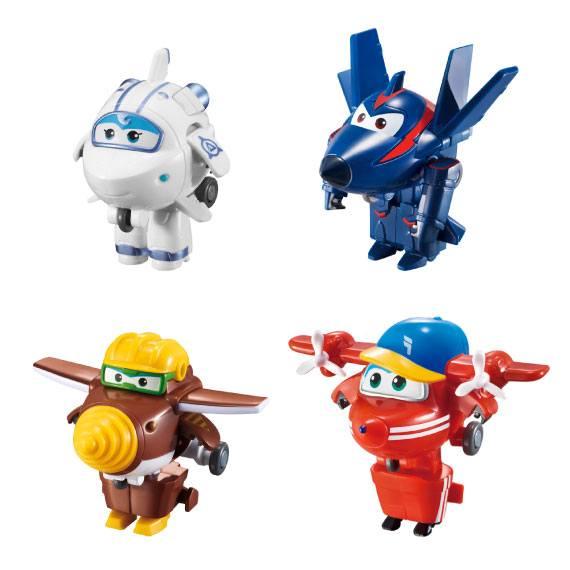 Pack2 Figuras mini Transformables Super Wings