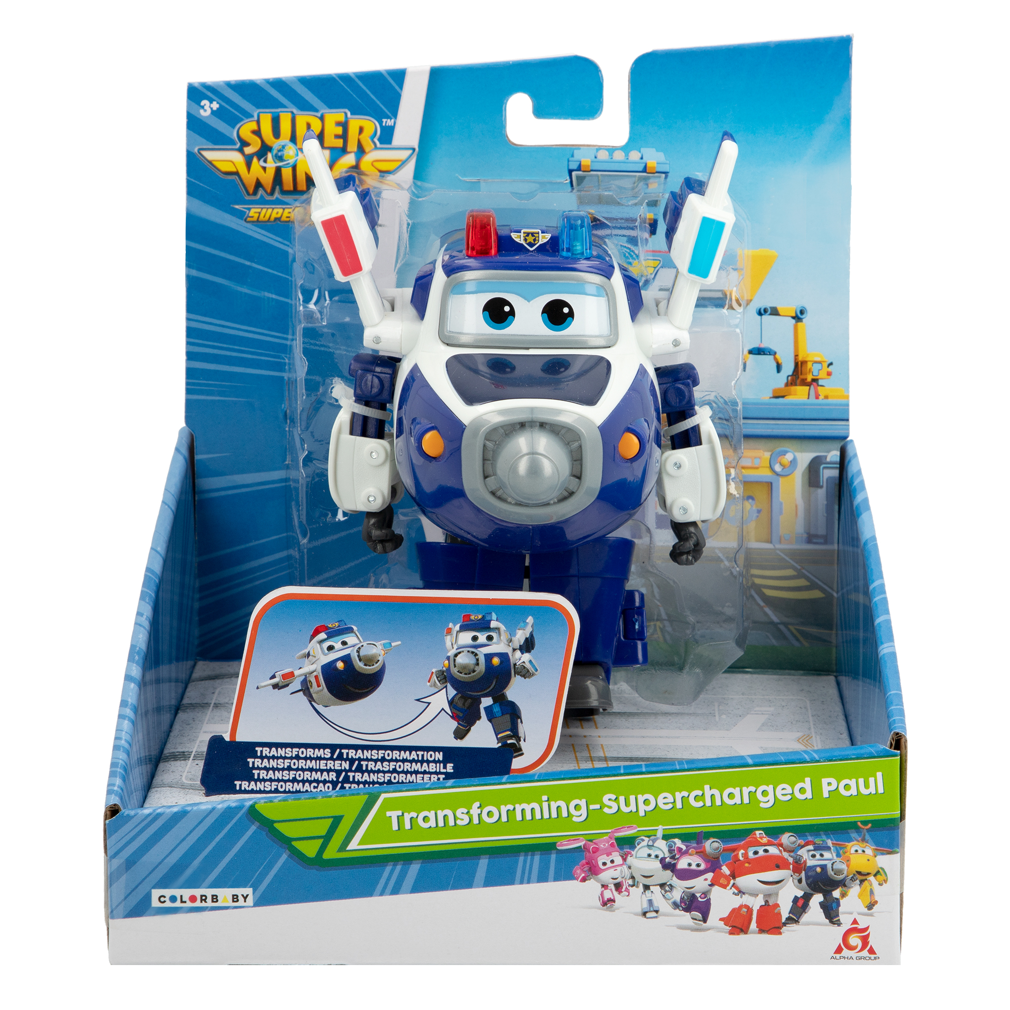 Juguete Super Wings Paul transformable