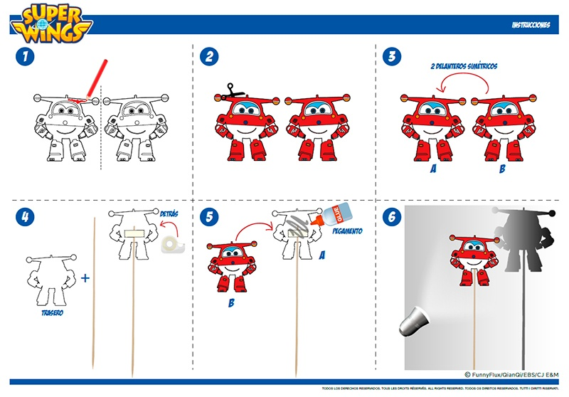Manualidades Super Wings Jett