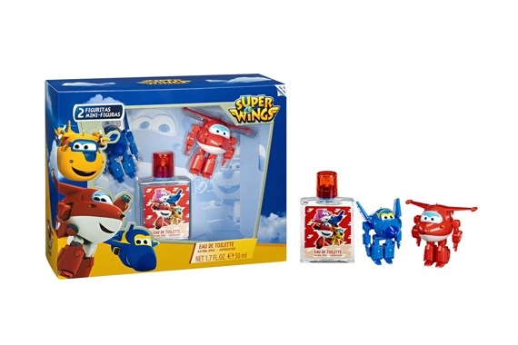 SET EDT 50ML+ 2 FIGURITAS Super Wings