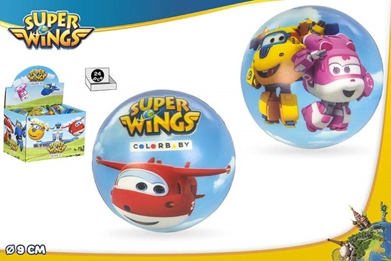 PELOTA ESPUMA 9 CM - SUPER WINGS