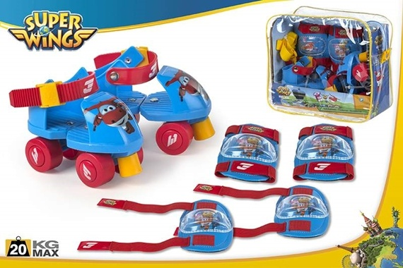 SET PATINES INFANTILES AJUSTABLES Super Wings