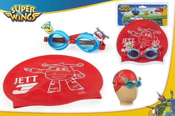 BLISTER GAFAS + GORRO BAÑO INF Super Wings