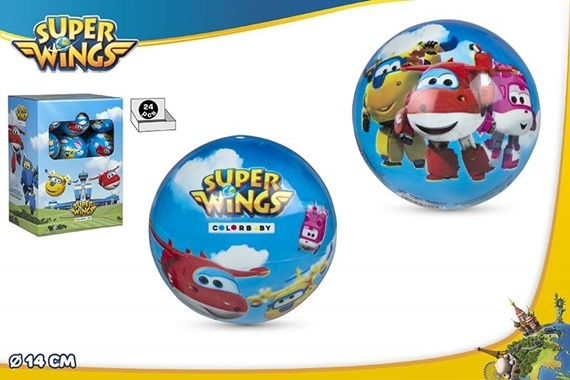 BOLA PVC D14 CM - Super Wings Super Wings
