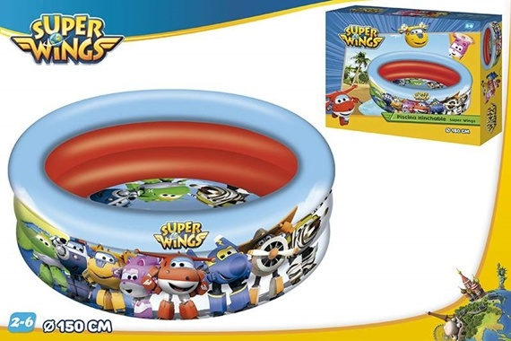 PISCINA 3 AROS D150 CM - SUPER WINGS
