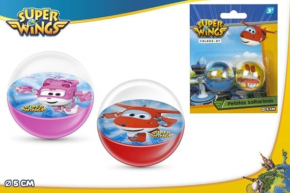 BL 2 PELOTAS SALTARINAS D5CM - Super Wings Super Wings