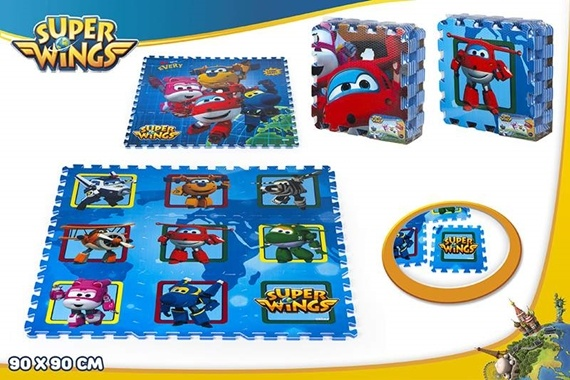 TAPETE PUZZLE EVA 90X90 CM Super Wings