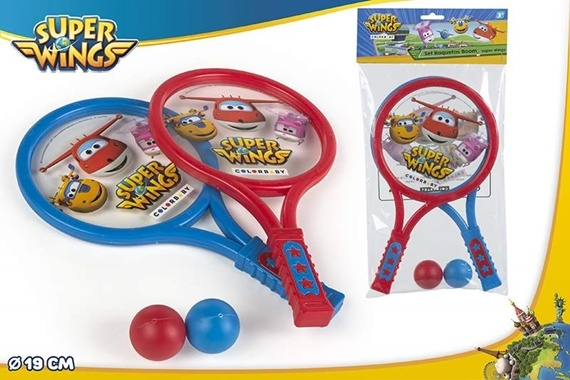 SET TENIS BOOM 19CM - SUPER WINGS Super Wings