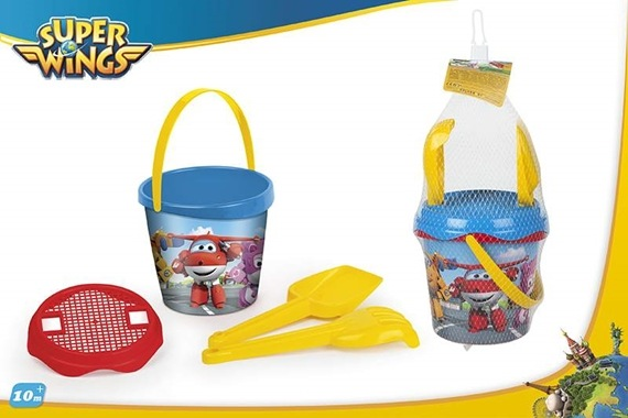 SET BALDE PRAIA D18CM C/3 AC- Super Wings