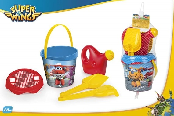 SET BALDE PRAIA D18CM C/3 AC + Super Wings