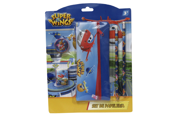 Set de Papelería c/ Portatodo SuperWings Super Wings