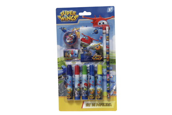 Set de Papelería 9 pcs SuperWings Super Wings