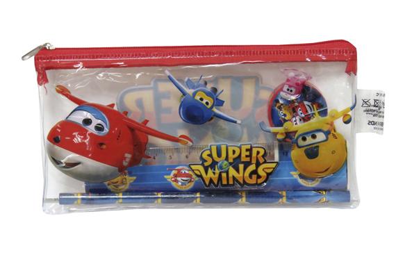 Portatodo c/ Material Escolar SuperWings Super Wings