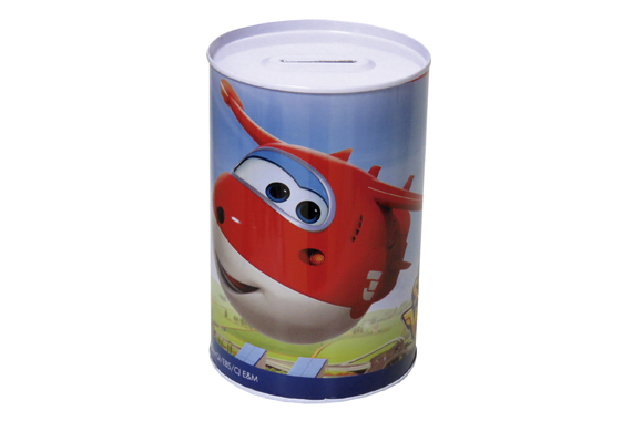 Hucha Cilíndrica Mediana SuperWings Super Wings