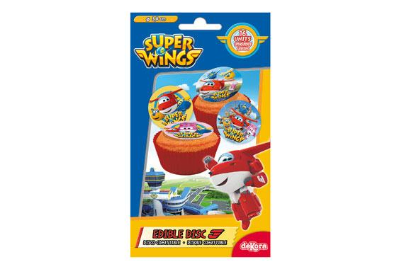 MINI DISCOS COMESTIBLES SUPER WINGS