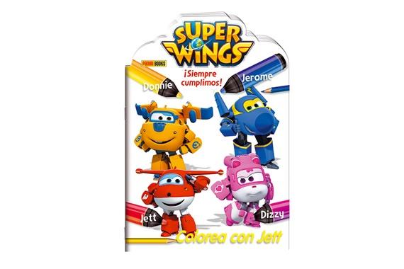 ¡SIEMPRE CUMPLIMOS! COLOREA CON JETT Super Wings
