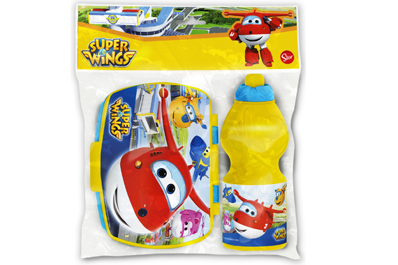 Set Vuelta Al Cole 2 Pcs. (Botella Sport Y Sandwichera) Super Wings