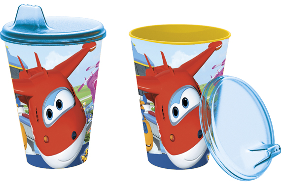 Vaso Con Sipper Easy 430 Ml. Super Wings